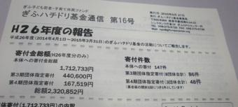 ぎふハチドリ基金通信16号