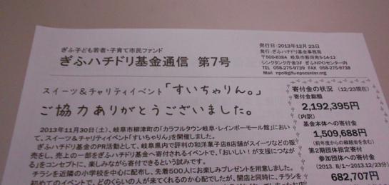 ぎふハチドリ基金通信7号