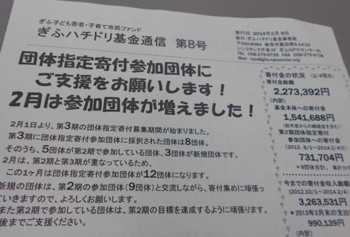 ぎふハチドリ基金通信8号